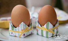 Origami Eierbecher & Osterbrunch Deko mit dem Stampin' Up! Stempelset Ei,Ei,Ei und dem Designerpapier Zarter Frühling www.glitzerwunderland.de