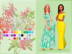 """nolan-sims:  """" Nolan Sims here.  As requested, here is the maxi version of the Pretty Breezy Dress from my 4K Followers gift! And to go along with new CC, i'm using a new preview template! I hope you'll all like it!  Info & Download Below! Keep..."""