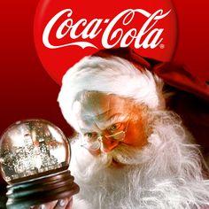 Coca-Cola Santa by Haddon Sundblom Coca Cola Christmas, Christmas Ad, Vintage Christmas Cards, Christmas Pictures, Christmas Posters, Christmas Sayings, Christmas Parties, Father Christmas, Christmas Crafts
