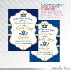 Blue And Gold Glitter Prince Guess The Baby Food Game Printable For Baby  Shower. Choose, Print, Cut U0026 Celebrate! ▻▻▻What You Get 1 Pdf File With 2  Game ...