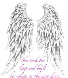 she took the leap and built her wings on the way down - Google Search