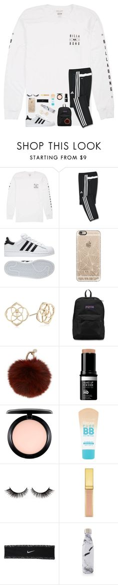 """RTD for truth about ppl at my school"" by mmprep ❤ liked on Polyvore featuring Billabong, adidas, Casetify, Kendra Scott, JanSport, Yves Salomon, MAC Cosmetics, Maybelline, NIKE and S'well"