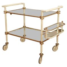 French 40's bar cart