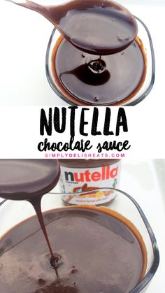 NUTELLA SAUCE - use for dipping & drizzling on anything you like chocolate on.