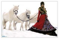 Русский стиль..лошади...зима...