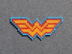 Items similar to Wonder Woman Symbol Perler Bead Sprite on Etsy Easy Perler Bead Patterns, Fuse Bead Patterns, Diy Perler Beads, Perler Bead Art, Pearler Beads, Fuse Beads, Beading Patterns, Pearl Beads Pattern, Art Perle