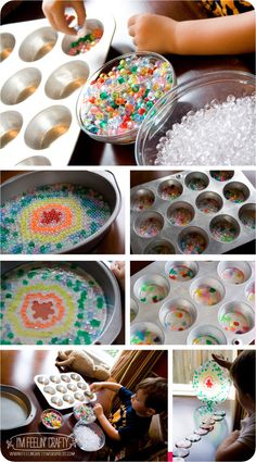 Making Melted Bead Sun Catchers-I'm Feelin' Crafty....I like her idea of making a big one into a wind chime (x-mas present?)