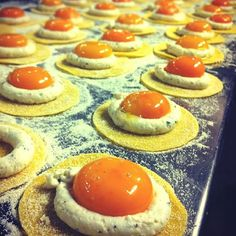 uova raviolo goats curd brown butter