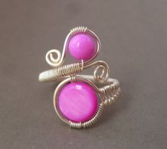 Wire wrapped ring // wire wrapped jewelry by PillarOfSaltStudio, $21.00