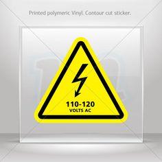 $1.89 - Stickers Decal Danger High Voltage 110-120 Volts Ac Vehicle St5 X4285 #ebay #Home & Garden
