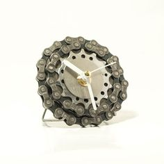 small bicycle clock bicycle desk clock with small white hands steampunk decor industrial