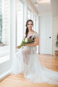 d15ceab479f60 Estela - Selena Huan off-the-shoulder crystal and pearl beaded Israel lace  illusive back light mermaid gown
