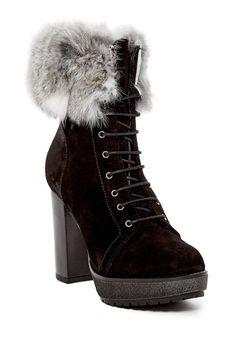 Image of Manas Genuine Rabbit Fur Lined Boot