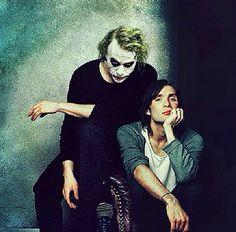 Heath Ledger (Joker) & Cillian Murphy (Scarecrow) from the Batman movies Harley Quinn, Joker And Harley, Joker Batman, Der Joker, Heath Ledger Joker, Heath Ledger Smile, Scott Eastwood, Christian Bale, Gotham City