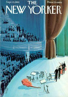 The New Yorker - Saturday, September 1961 - Issue # 1910 - Vol. 37 - N° 32 - Cover by Mario Micossi The New Yorker, New Yorker Covers, Vintage Illustration Art, Magazine Illustration, Flat Illustration, Book And Magazine, Magazine Art, Magazine Covers, Cool Posters