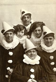 vintage everyday: 27 Hilarious Vintage Photos of People Dressed in Pierrot from the Early 20th Century