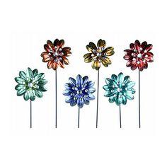 Exhart Environmental 50741 Metallic Flower Garden Stake, 28-Inch $25