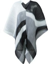 Pleats Please Issey Miyake | Ribbed Printed Poncho | Lyst