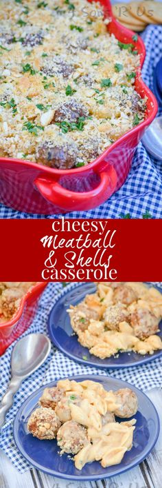 Angus beef meatballs and shell shaped pasta are baked in a rich cheese sauce for an epic flavor mash up. Cheesy Meatball & Shells Casserole is a whole new take on meatballs and pasta, and a dinnertime dream come true. AD #MeatballPerfection
