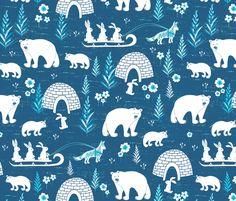 Arctic Fun fabric by jill_o_connor on Spoonflower - custom fabric