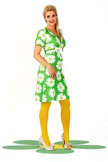 Spændende og trendy modetøj til kvinder online Colored Tights Outfit, Yellow Tights, Mod Fashion, Vintage Fashion, Womens Fashion, Vintage Style, Dedicated Follower Of Fashion, Pantyhose Outfits, Retro Outfits
