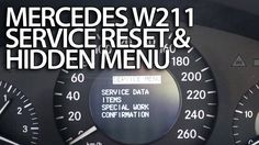 How to #reset #service reminder in #Mercedes-Benz #W211 (emissions inspect. performed on time?) #cars