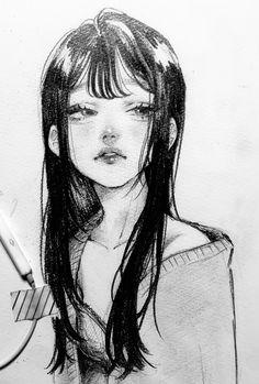 Anime Art Girl, Manga Art, Pretty Art, Cute Art, Arte Sketchbook, Art Drawings Sketches Simple, Cartoon Art Styles, Art Reference Poses, Aesthetic Art