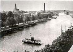 Ylinen föri.   Taaempana sokeritehdas.      1930-luku  Kuva Erik Välke Helsinki, Finland, Travel, Viajes, Trips, Traveling, Tourism, Vacations