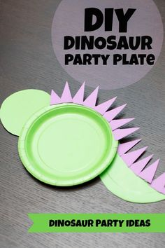 Kid's Party Crafts: Dinosaur Plate Craft - Spaceships and Laser Beams