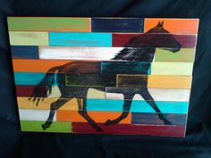 Horse Silhouette Wood sign Country horse by Western Wall, Western Decor, Horse Wall Art, Wood Wall Art, Horse Silhouette, Country Signs, Color Balance, Dark Wax, Stain Colors