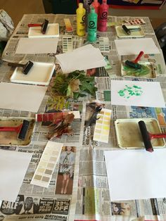 Art, leaf printing