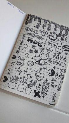 Small Drawings, Cool Art Drawings, Sketchbook Drawings, Pencil Art Drawings, Doodle Drawings, Easy Drawings, Art Sketches, Notebook Drawing, Notebook Doodles