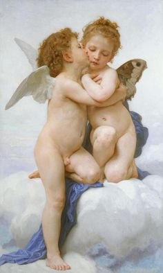 The First Kiss -William Adolphe Bouguereau