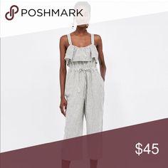 08de0856bc4 Bnwt striped jumpsuit w culottes from Zara - - cheaper if bought through  depop! Zara