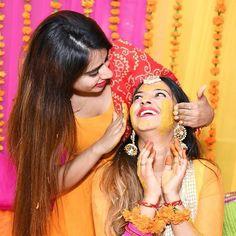 The wedding rituals kickstart with Haldi Ceremony.