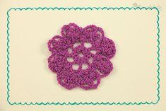 Patrón de flor de crochet