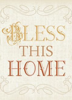 Items similar to Bless this Home - 8x10 printable graphic art download, thanksgiving, burlap, mustard yellow, brown, burnt orange on Etsy