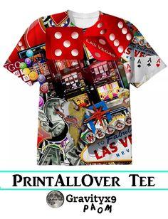 #LasVegasIcons - Gamblers Delight  Cotton T-shirt by #Gravityx9 #PAOM  #PrintAllOverMe -
