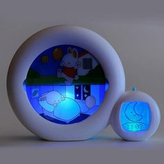 White Moon Sleep Trainer - Little ones can learn when it's bedtime and time to get up even before they know how to read the clock with a charming alarm clock made just for them. Sleeping Bunny, Night Time Routine, Help Teaching, Kids Sleep, Boy Room, Kids Room, Baby Love, Night Light, Baby Kids