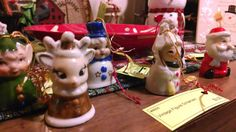 Vintage bell ornaments.  LOVE these :)
