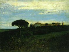 View of la Tour de Farges, Gustave Courbet  1857