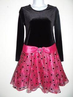 Ashley Ann Girl's Velour Black/Pink Party Graduation Peagent Dress Sz: 6 14 16  #AshleyAnn #Everyday