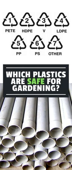 Knowing which plastics are safe for the garden is key to making sure you don't use harmful materials that leach chemicals into your food. #springvegetablegardening