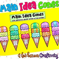 *** MY BEST SELLER!! *** Here's a hands-on, creative way to practice identifying the main idea and detail sentences! This is an engaging activity where your students match 3 details to the main idea. It also makes a creative bulletin board or school hallway display!