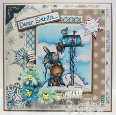 "My DT card for Kraftin' Kimmie STamps featuring ""A letter to Santa"""