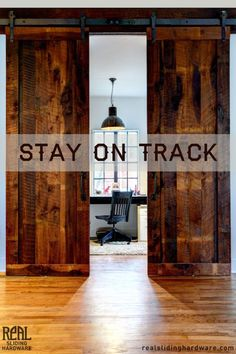 DIY Sliding Barn Doors. It's Easier Then You Think! Start with Real Sliding Hardware. From reclaimed barn doors to hand-hammered hardware, everything you need is right here. Get this look and more at RealSlidingHardware.com and enjoy Free Shipping on orders over $300.