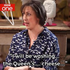 Miranda - the queens cheese ps love the shirt! Miranda Hart Quotes, Sarah Hadland, British Humor, What Have You Done, Bbc One, Tv Quotes, Good Ol, Great Friends, You Are The Father