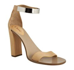 Chloe Nude Leather Ankle Strap