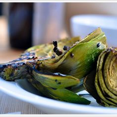 : Grilled Artichokes Recipe - try with Olio lemon or garlic olive oil.  Chipotle olive oil might be good too!