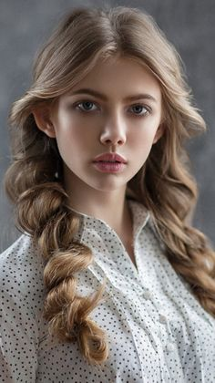 Magnificent Rolled Braided Long Hairstyles 2019 for Teenage Girls to Consider Th., Frisuren,, Magnificent Rolled Braided Long Hairstyles 2019 for Teenage Girls to Consider Th. Girl Face, Woman Face, Modeling Fotografie, Beautiful Eyes, Beautiful Women, Female Character Inspiration, Model Face, Braids For Long Hair, Pretty Face